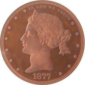 1877 J-1542 S$1 PF obverse
