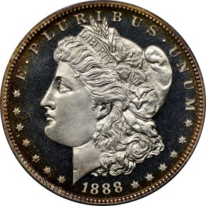 1888 $1 PF obverse
