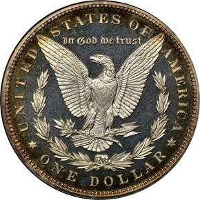 1888 $1 PF reverse