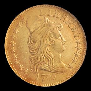 1797 SMALL EAGLE $5 MS obverse