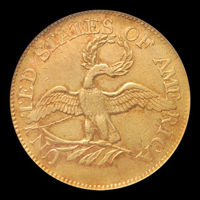 1797 SMALL EAGLE $5 MS reverse