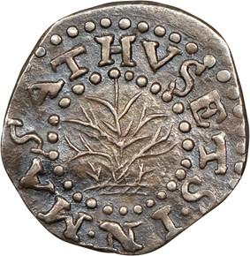 1662 LARGE 2 OAK TREE MASSACHUSETTS 2P MS obverse