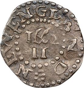 1662 LARGE 2 OAK TREE MASSACHUSETTS 2P MS reverse