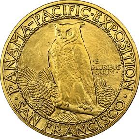 1915 S ROUND PANAMA-PACIFIC $50 MS reverse