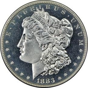 1883 $1 PF obverse