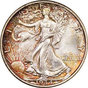 1934 50C MS obverse