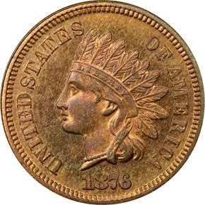 1876 1C PF obverse