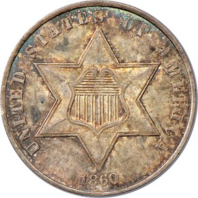 1860 3CS MS obverse