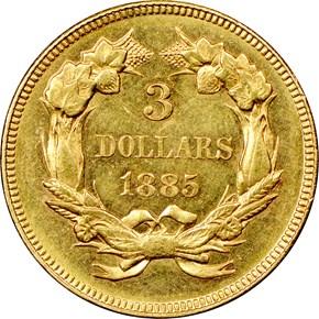 1885 $3 MS reverse