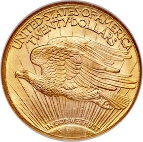 1931 D $20 MS reverse