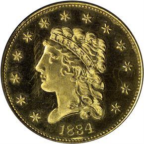1834 CLASSIC $2.5 PF obverse