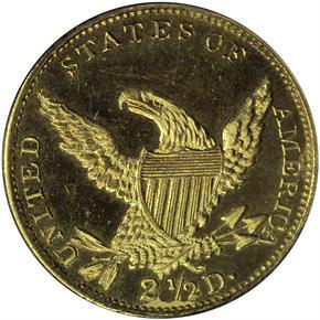 1834 CLASSIC $2.5 PF reverse