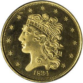 1834 CLASSIC $5 PF obverse