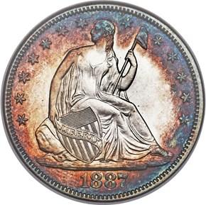 1887 50C MS obverse