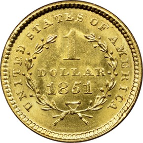 1851 G$1 MS reverse