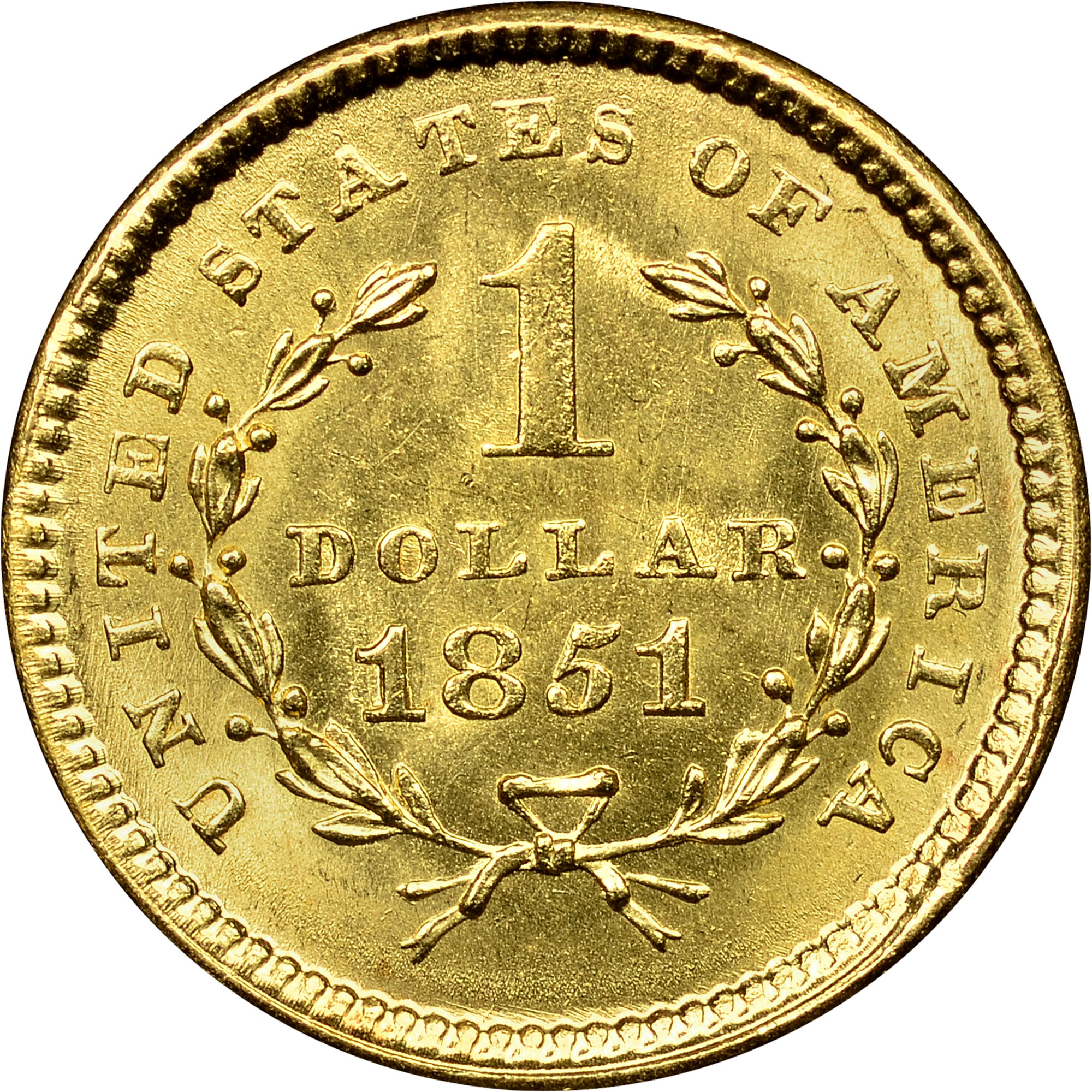 1851 G 1 Ms Gold Dollars Ngc