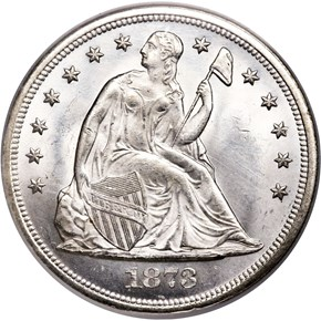 1873 $1 MS obverse