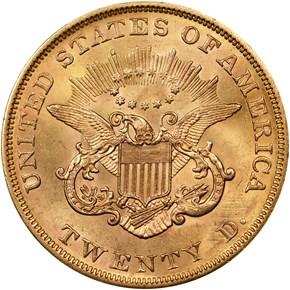 1853 $20 MS reverse