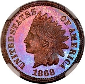 1868 1C PF obverse