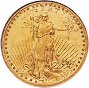 1911 $20 PF obverse