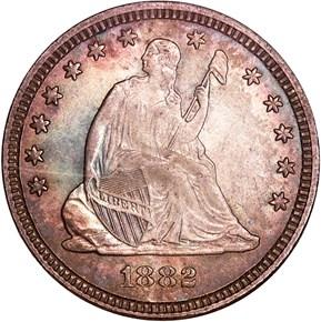 1882 25C MS obverse