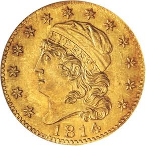 1814/3 BD-1 $5 MS obverse