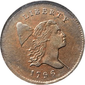 1796 POLE C-2 1/2C MS obverse
