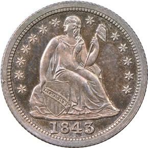 1843 10C PF obverse