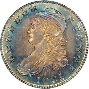 1821 50C PF obverse