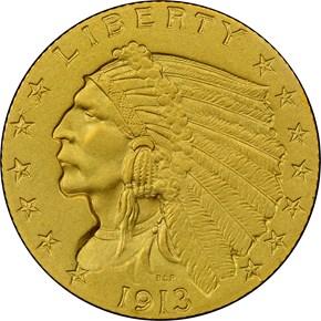 1913 $2.5 PF obverse