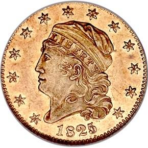 1825/4 PARTIAL 4 BD-1 $5 MS obverse