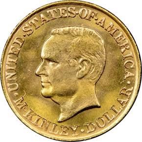 1917 MCKINLEY G$1 MS obverse