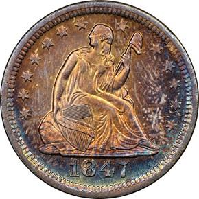 1847 O 25C MS obverse