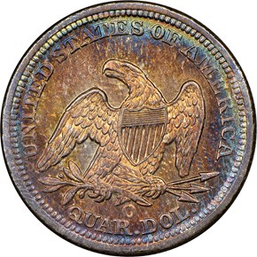 1847 O 25C MS reverse