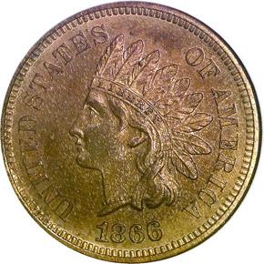 1866 1C PF obverse