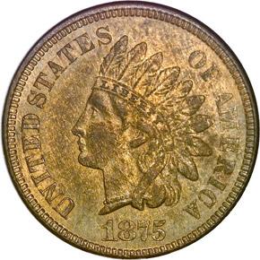 1875 1C MS obverse