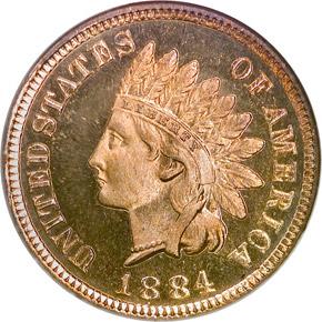 1884 1C PF obverse
