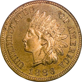 1886 TYPE 1 1C PF obverse