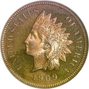 1909 INDIAN 1C PF obverse