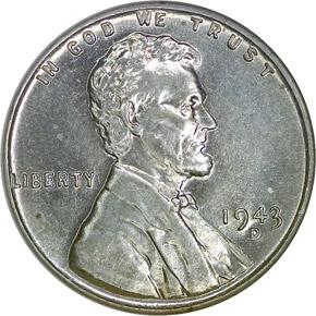 1943 D 1C MS obverse