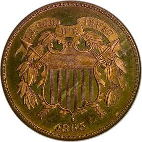 1865 2C PF obverse