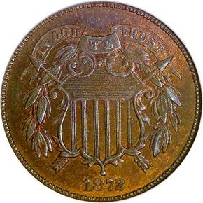 1872 2C MS obverse