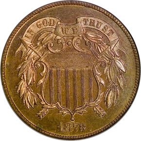 1873 CLOSED 3 2C PF obverse