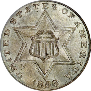 1856 3CS MS obverse