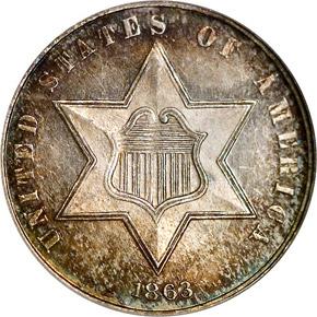 1863 3CS MS obverse