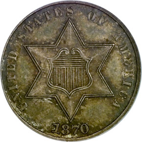 1870 3CS MS obverse