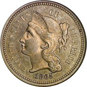 1865 3CN PF obverse