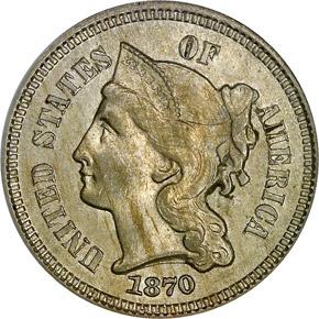 1870 3CN MS obverse
