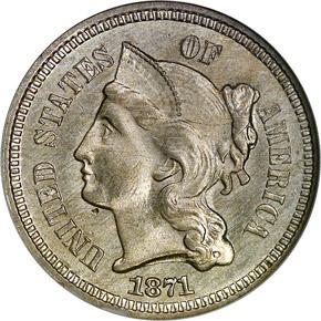 1871 3CN MS obverse