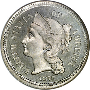 1873 CLOSED 3 3CN PF obverse